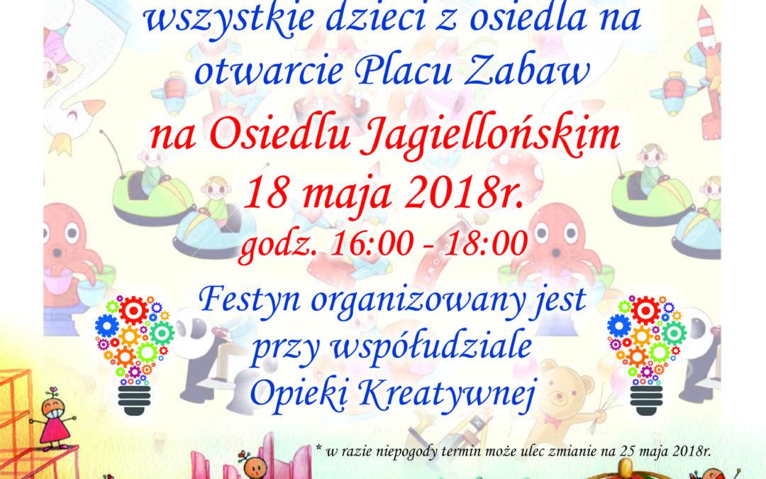 Otwarcie placu zabaw na Osiedlu Jagiellońskim