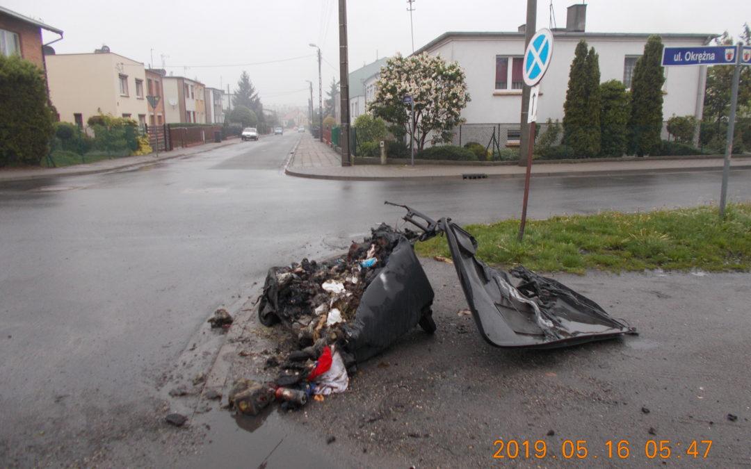 Podpalenie kontenera na Osiedlu Jagiellońskim