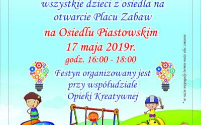 Otwarcie placu zabaw na Osiedlu Piastowskim